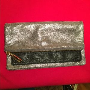 Gap leather holiday clutch